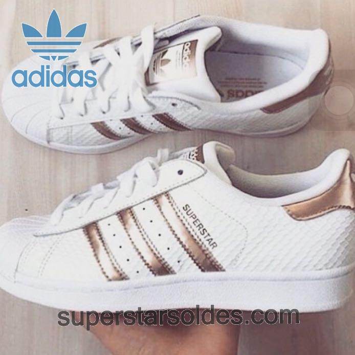 adidas superstar blanc rose gold